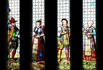Stained glass window  from 16 century