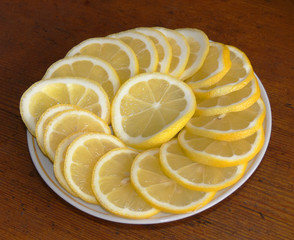 Juicy fragrant lemon