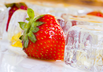 Cold strawberries