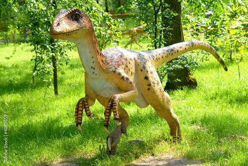 Poster Deinonychus antirrhopus, Deinonych, dinosaurs series