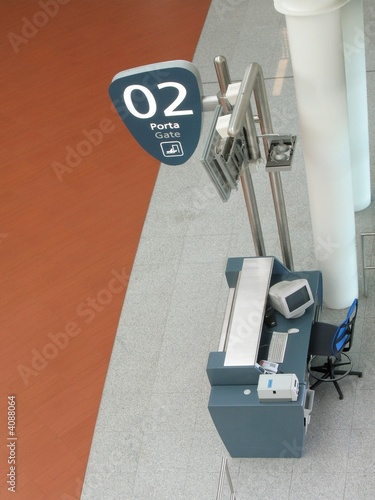 Airport gate - gate desk