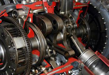 Piston engine detail
