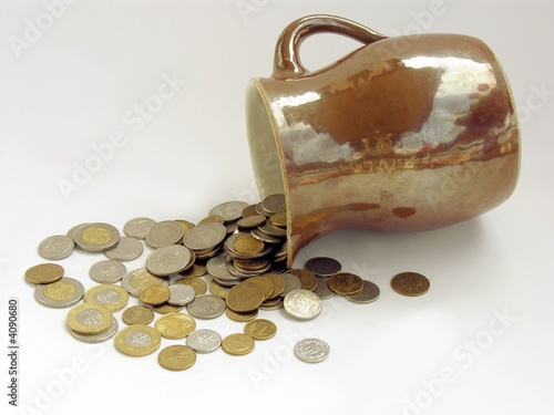 earth-ware pot as money-box