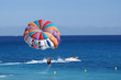 a motorboat with parachute prepared for parasailing - 4092059