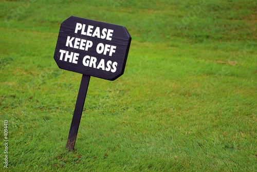 Keep-off-the-grass sign