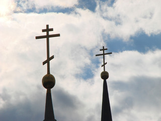 crosses in sky