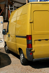 yellow cargo van