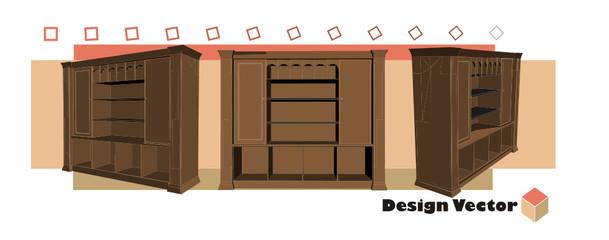 vector de muebles