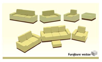 vector de sofa