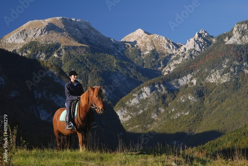 Horseback riding in nature