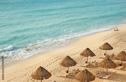 Leinwanddruck Bild the beach in the caribbean