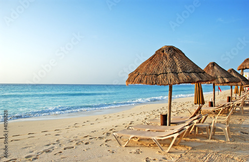 Foto op Canvas Mexico the beach in the caribbean