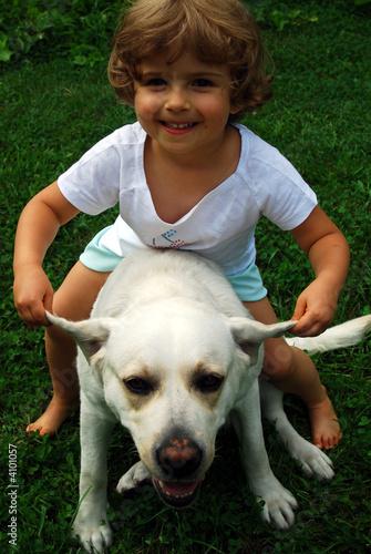 poster of beautiful girl with labrador retriever