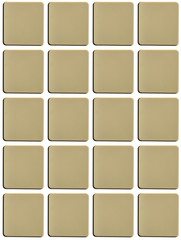 Blank tiles keys buttons useful for type and symbols