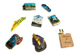 Magnets from several world country. Ideal for tourists theme. poster