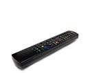 Black remote control keypad for TV poster