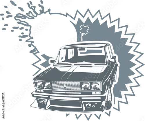 "Vector illustration tuned Vaz-2106 ""Lada"""
