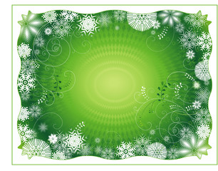 Green christmas background,vector illustration