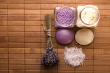 lavender bath items. aromatherapy poster