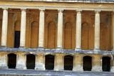 columns. terrace. walkway poster