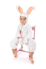 Déguisement de lapin détouré sur fond blanc