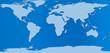 planisphère monde sur fond bleu