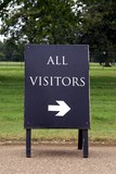 sign. all visitors poster