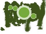 Green circle copyspace poster