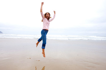 Happy Jumping Woman