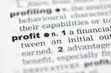 Definition of profit poster