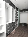 Fototapety Big closet in home interior