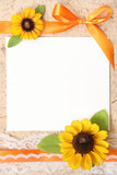 Fototapety blank vintage paper with flowers design