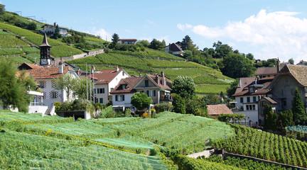 village vaudois et vignoble