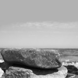 two stones by the sea