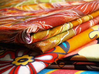 colored textiles