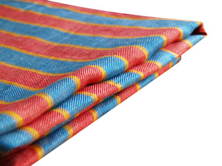 striped linen table-cloth