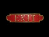 sign. exit.  poster
