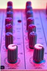audio mixer detail
