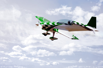 Green Stunt Plane