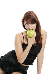 eating apple
