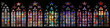 canvas print picture - St Vitus Stained Glass Window collection