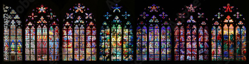 canvas print picture St Vitus Stained Glass Window collection