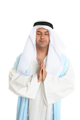 Biblical man in praying