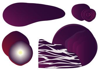 Purple vegetables