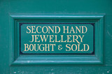 Second hand jewellery sign. poster