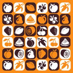 fruits motif picto