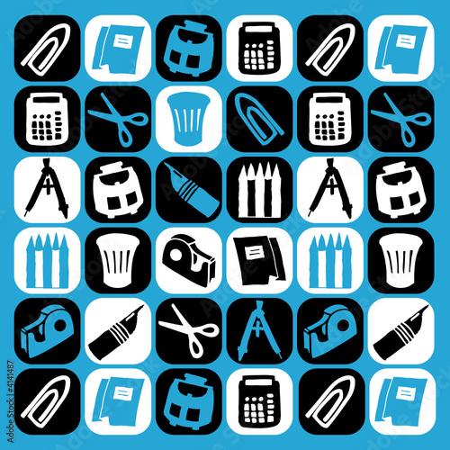 bureau motif picto fichier vectoriel libre de droits sur la banque d 39 images. Black Bedroom Furniture Sets. Home Design Ideas