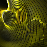 Golden Curves leading to tunnel poster