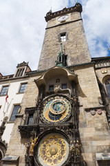 Famous old clock on a tower