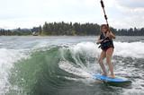 Wake surfing poster